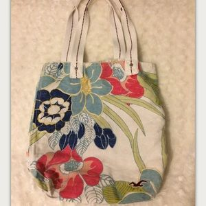 Hollister Tropical Canvas Tote Bag For Women